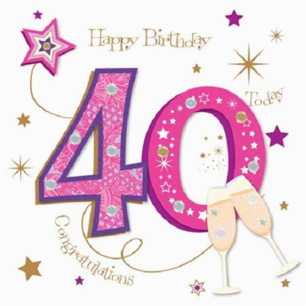 kctpmwer0012 happy 40th birthday greeting card by talking pictures greetings cards