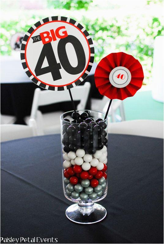 40th birthday centerpieces