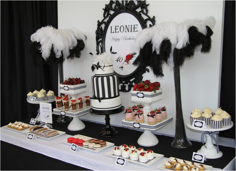 40th Birthday Table Decorations Ideas Leonie 39 S Cakes And Parties Fancy