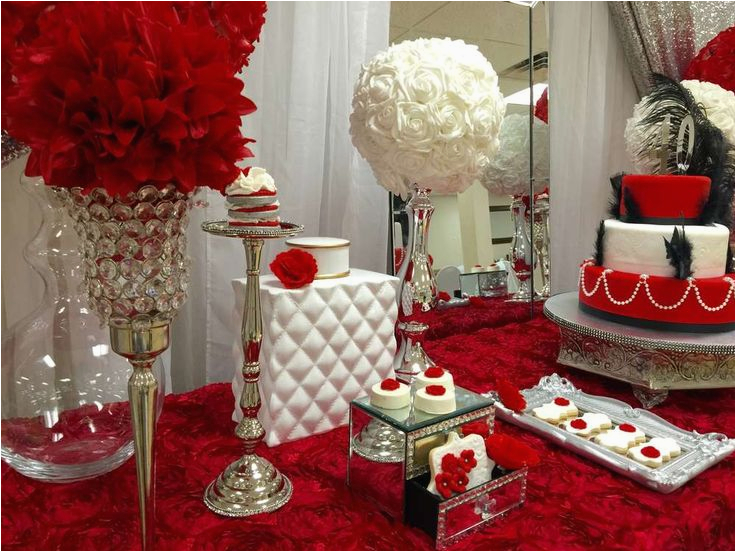 40th Birthday Table Decorations Ideas Red Roses Party Dessert Tables On Catch