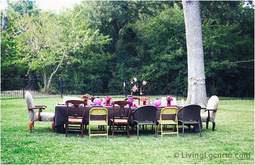 40th Birthday Yard Decorations Party Ideas Backyard Table Decorating