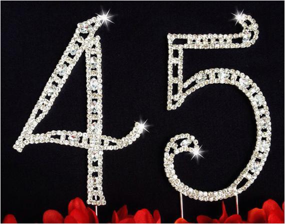 45th birthday wedding anniversary number