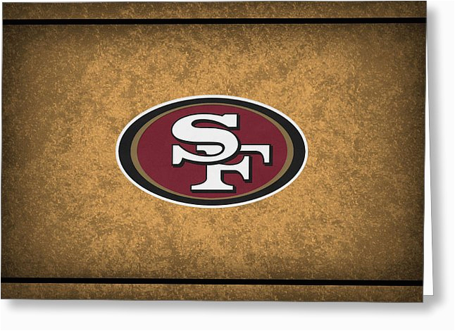 san francisco 49ers greeting cards fine art america