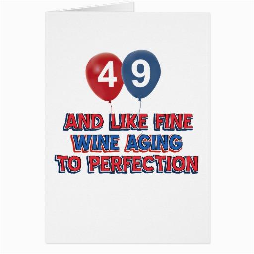 49th Birthday Card 49th Birthday Designs Greeting Cards Zazzle