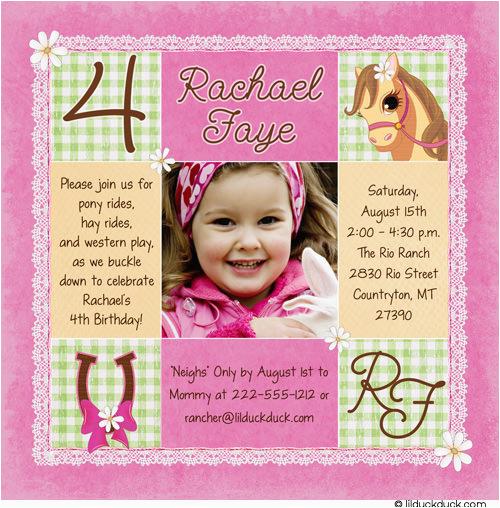 4th birthday party invitation wording cimvitation