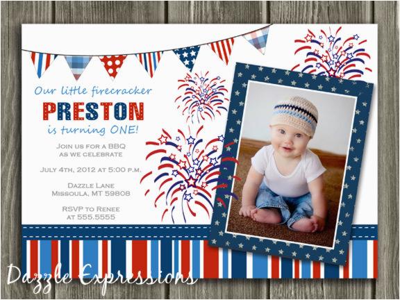printable 4th of july birthday invitation kids july