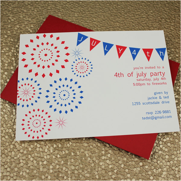 4th Birthday Invitation Templates Of July Party Template Download Print