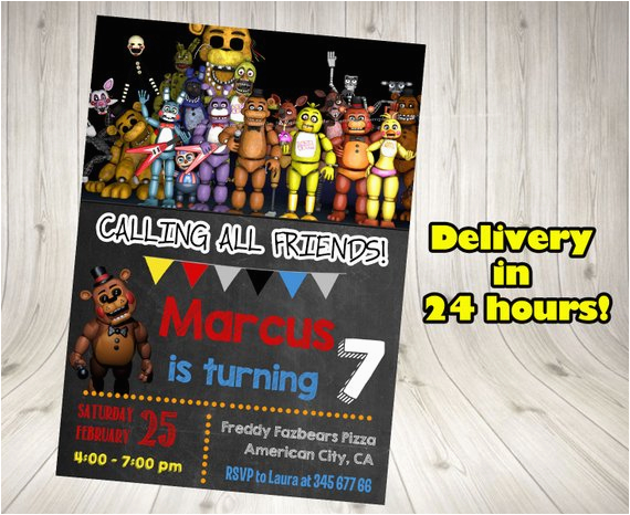 five nights at freddy 39 s invitation five nights by