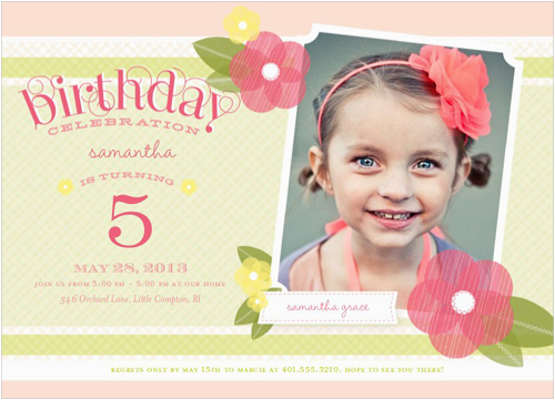 5 Year Old Birthday Invitation Template Birthdaybuzz