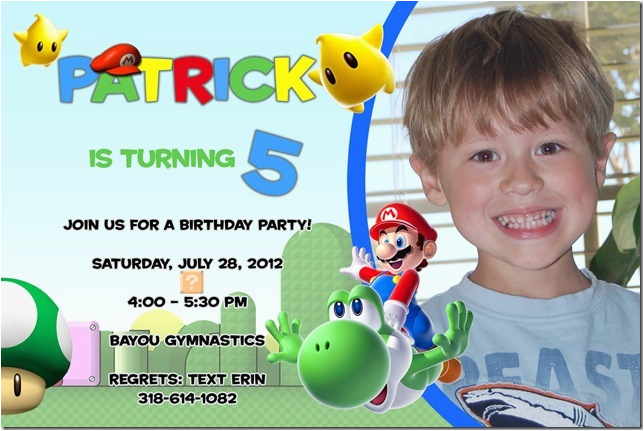 5 year old birthday invitations