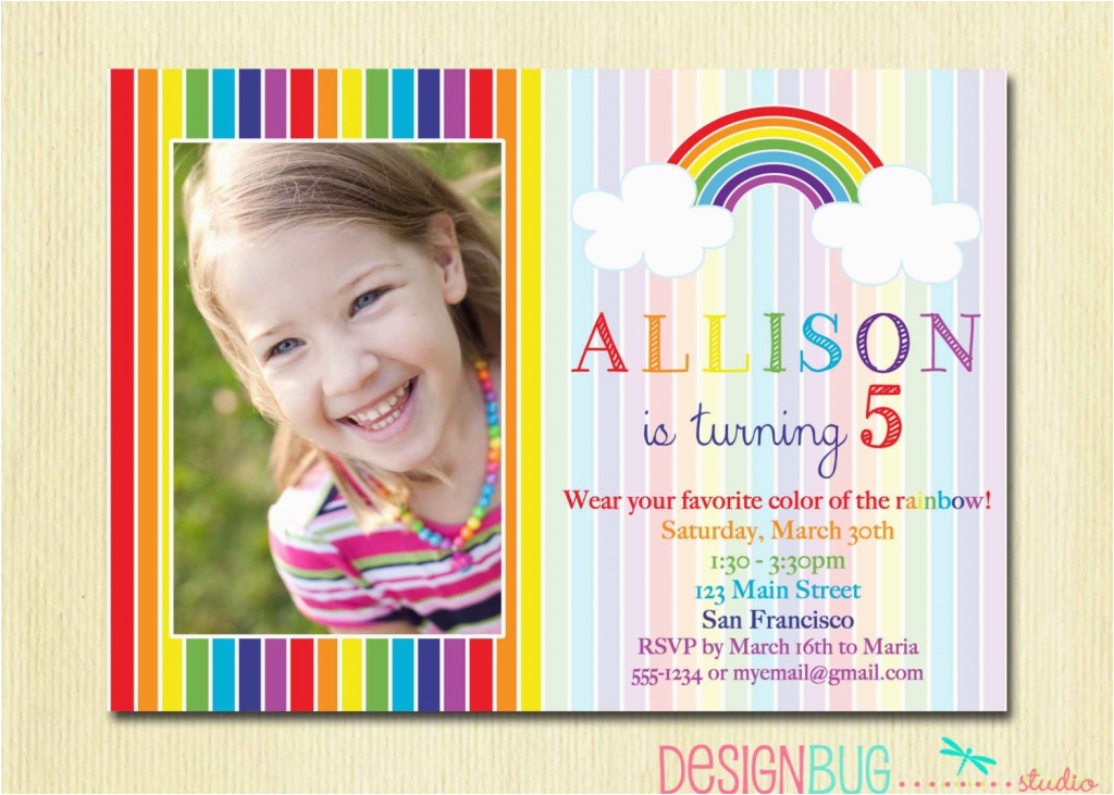 5 Year Old Birthday Invitation Template Years Invitations Wording Free