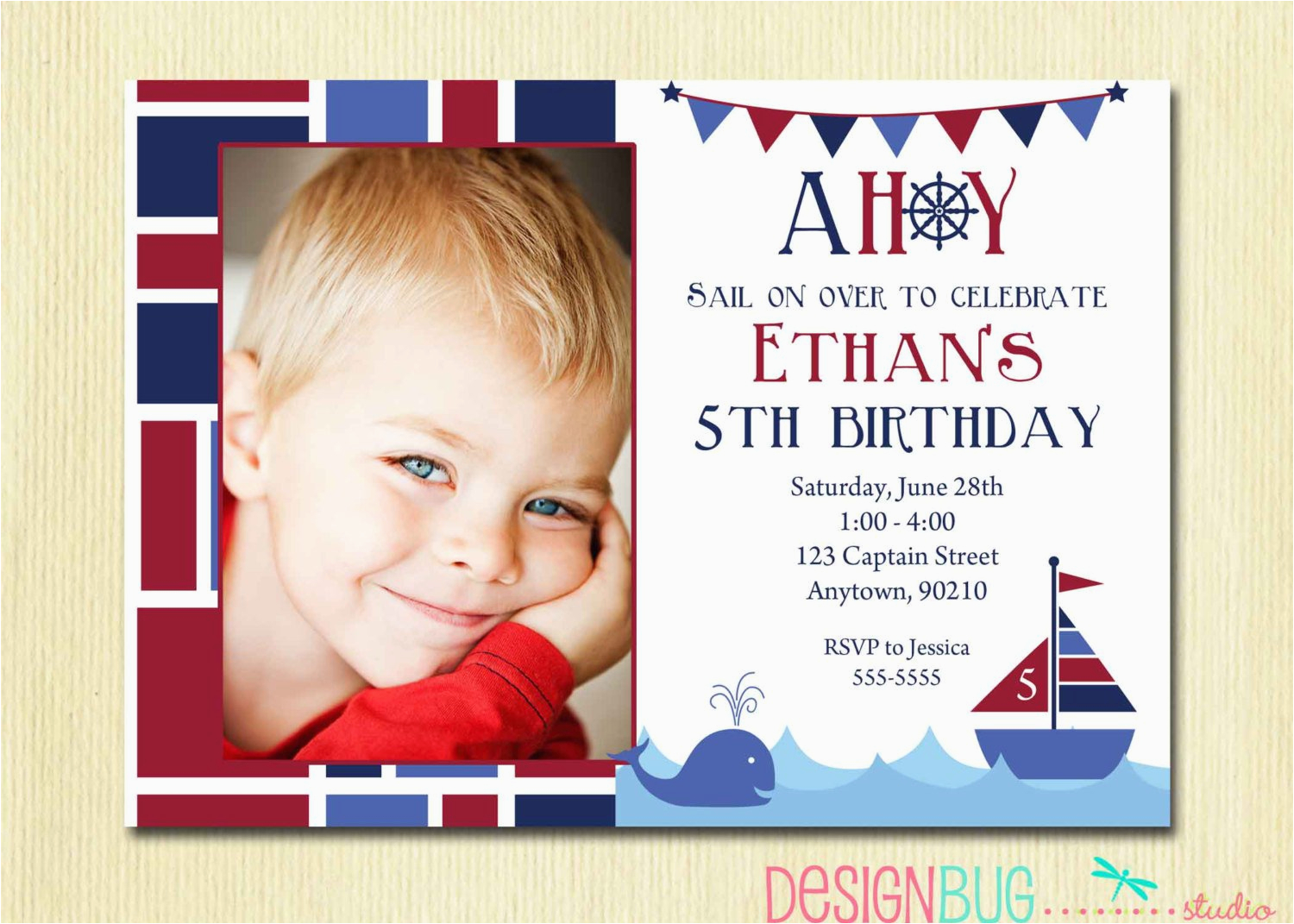 5 Year Old Birthday Party Invitation Wording For Boy Best