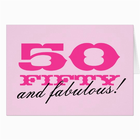 50th birthday card for women 50 and fabulous 137807050168603870