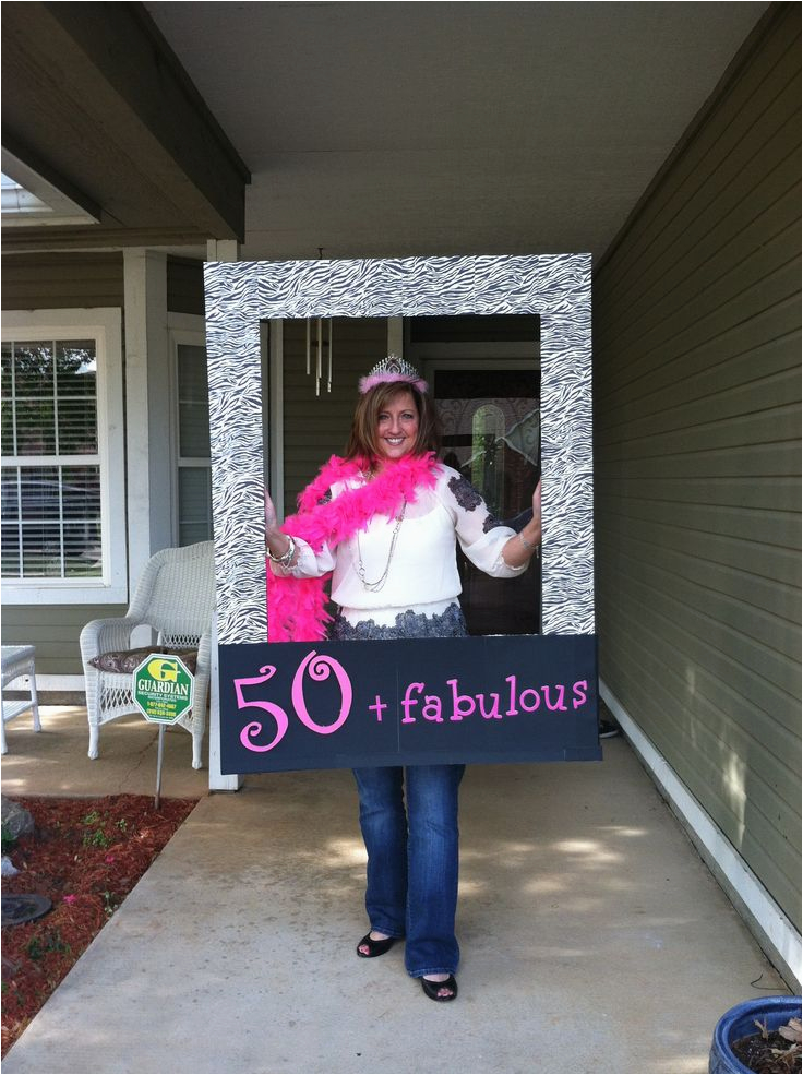 50 and Fabulous Birthday Decorations Fun 50th Birthday Photo Prop for 50 Fabulous Party 50