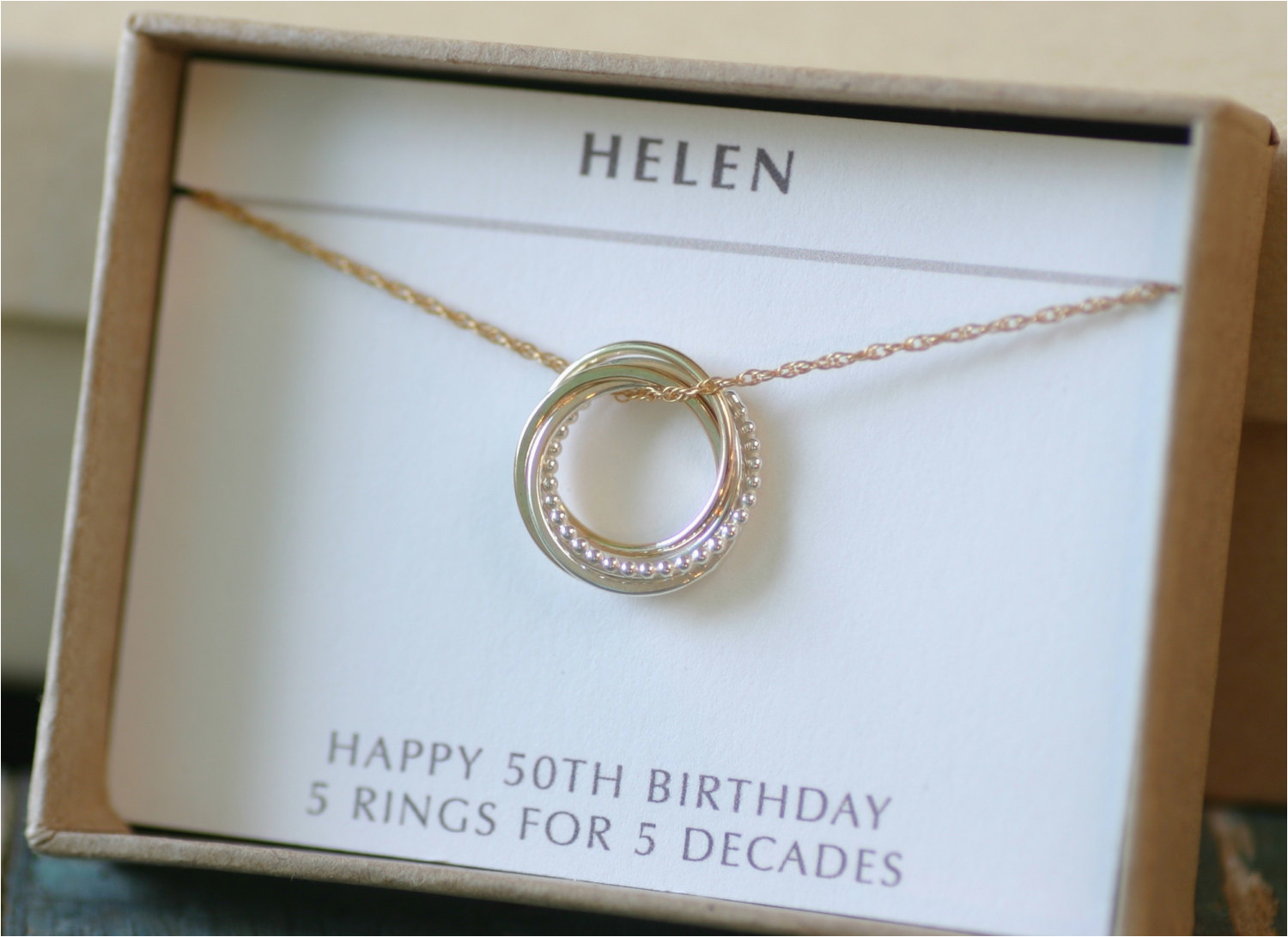 50th birthday gift for sister jewelry 5 best friends