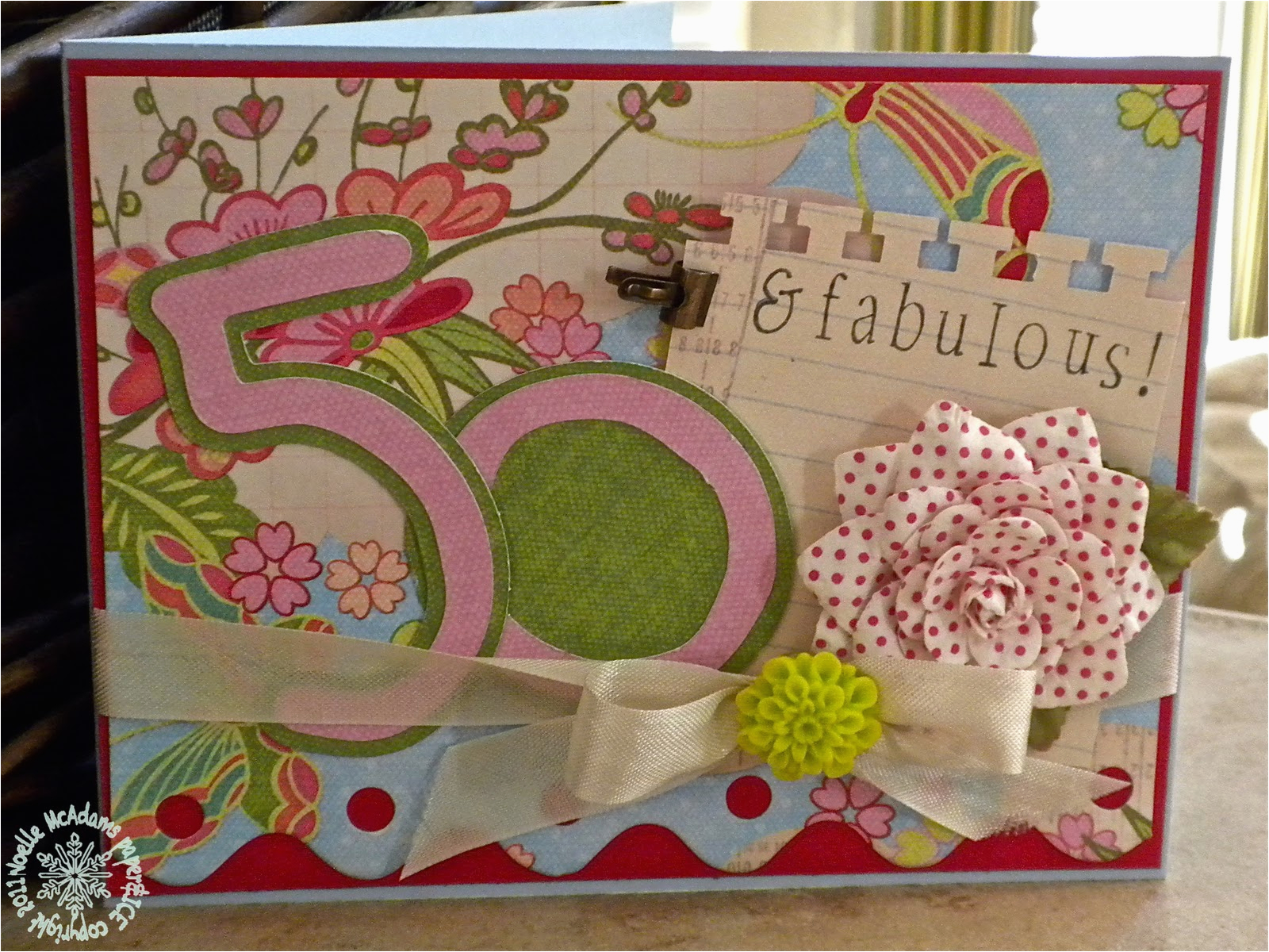 paper ice 50th birthday surprise for my aunt