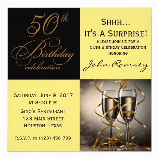 50 Birthday Invitation Sayings Surprise 50th Party Invitations Wording Free