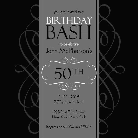 50 Birthday Invitation Templates 50th A Cake