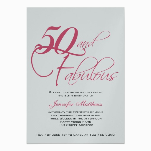 50 Birthday Invitations Free Printable 50th Ideas Bagvania