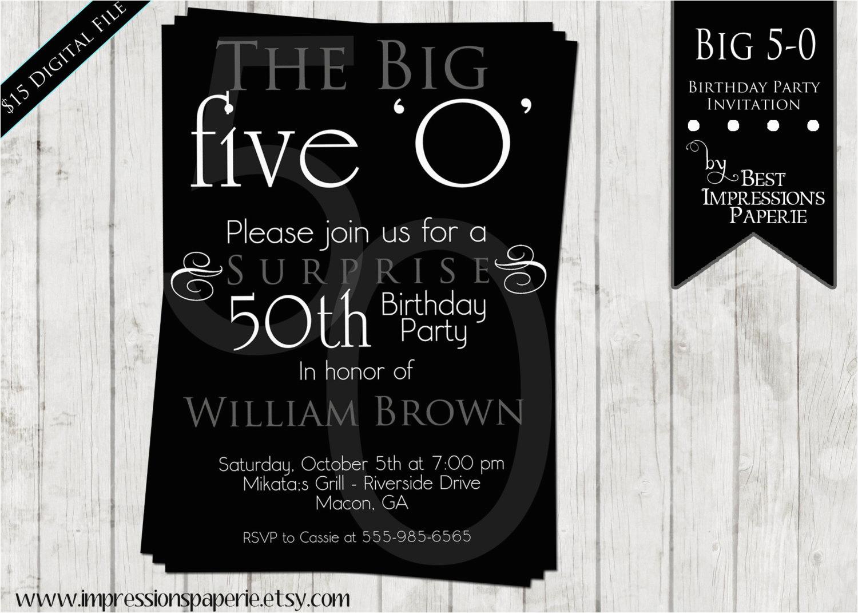 50 Birthday Party Invitation Wording 50th Invitations For Men Dolanpedia