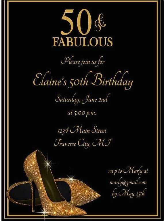 50 year old birthday party invitations 021321569