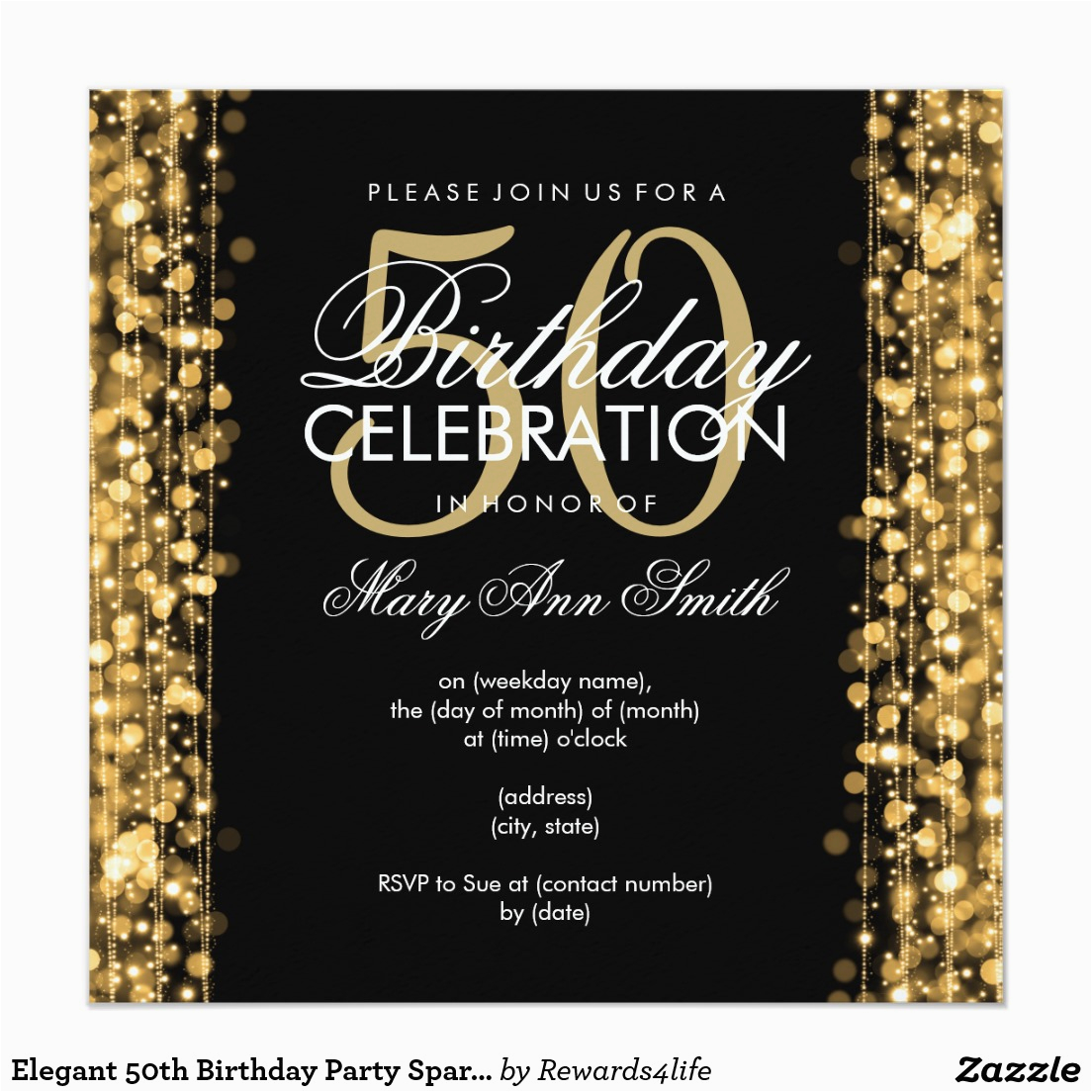 50 Year Old Birthday Party Invitations 14 Designs Free Sample