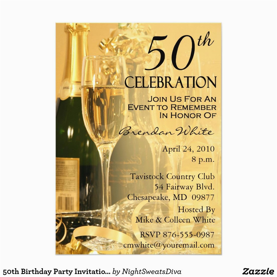 50 Year Old Birthday Party Invitations 50th