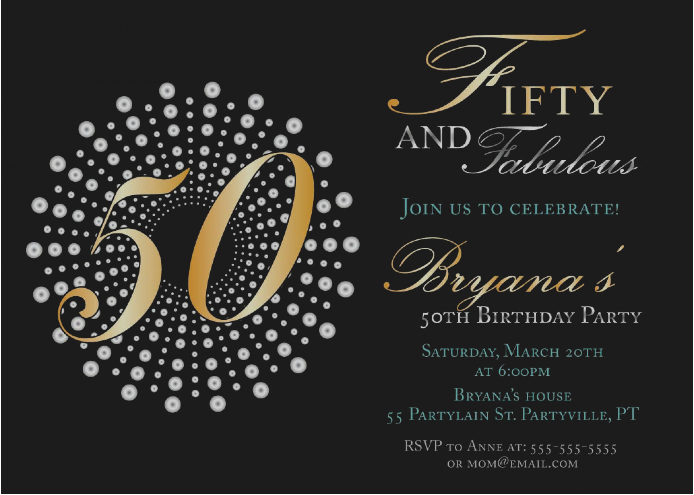 50 Year Old Birthday Party Invitations Pictures 50th Male