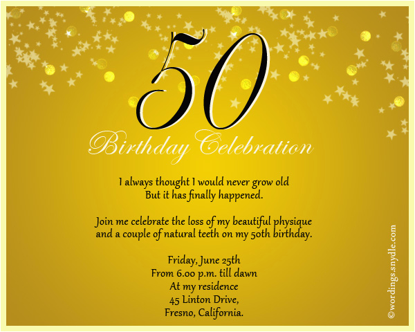 50 Years Birthday Invitation Card 50th Birthday Invitation Wording Samples Wordings and