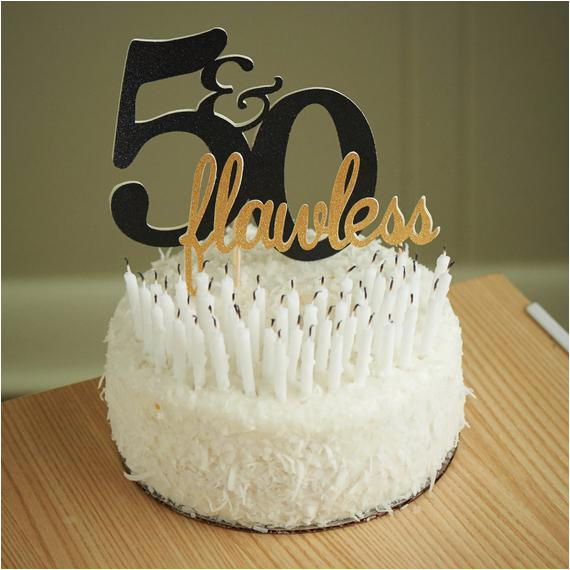 50th Birthday Cake Topper Flawless