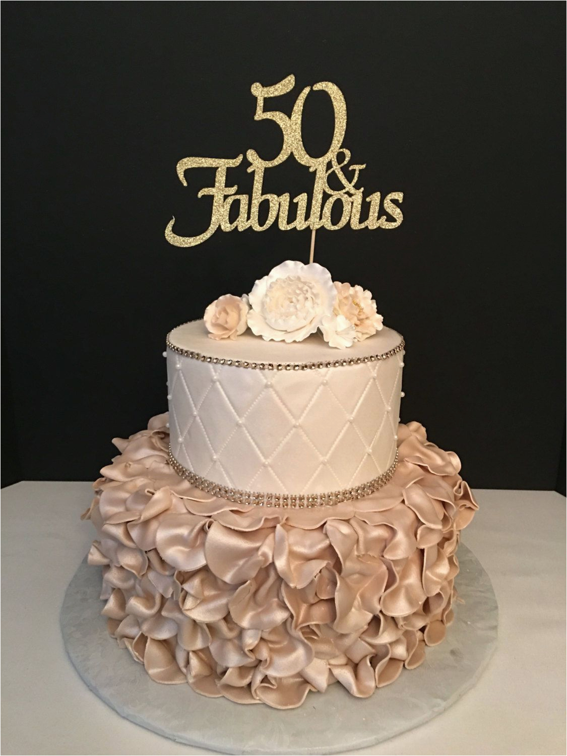 50th Birthday Cake Toppers Decorations Picture 71213237840786664
