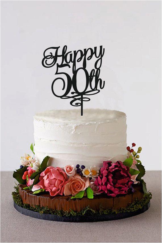 50 Year Anniversary Cake Topper