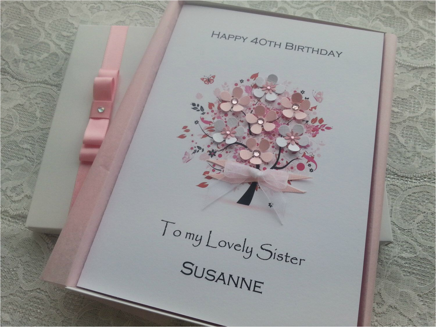 50th Birthday Card For Daughter Handmade Personalised 3d 16th 18th 20th 30th
