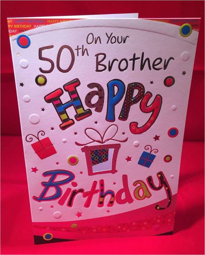 Happy 50th Birthday Brother Card At