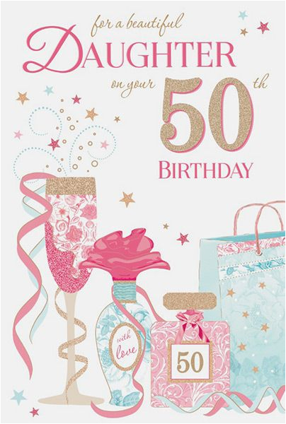 50th Birthday Cards For Mom Daughter Card