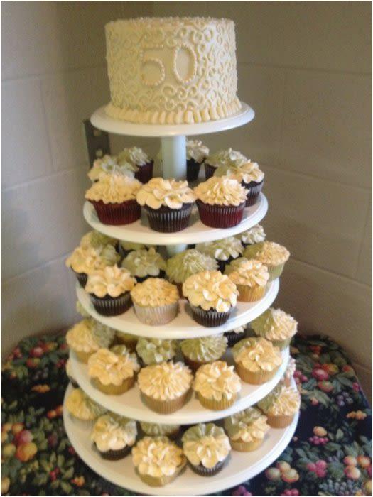 56130 50th anniversary cupcake tower