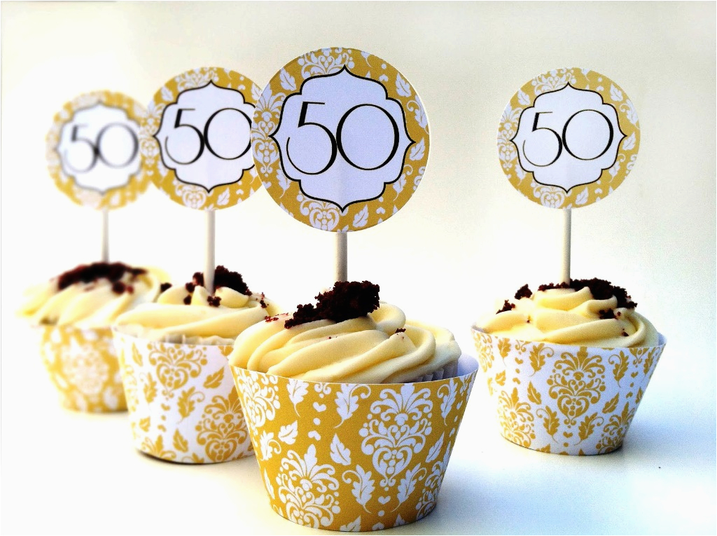 50th Birthday Cupcake Decorating Ideas Simple 50th Anniversary Cakes