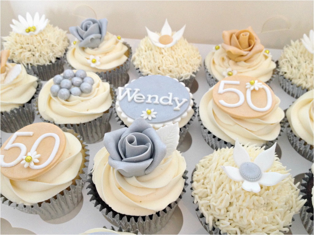 50th Birthday Cupcake Decorations 11 Cupcakes for 50th Bday Photo 50th Birthday Party