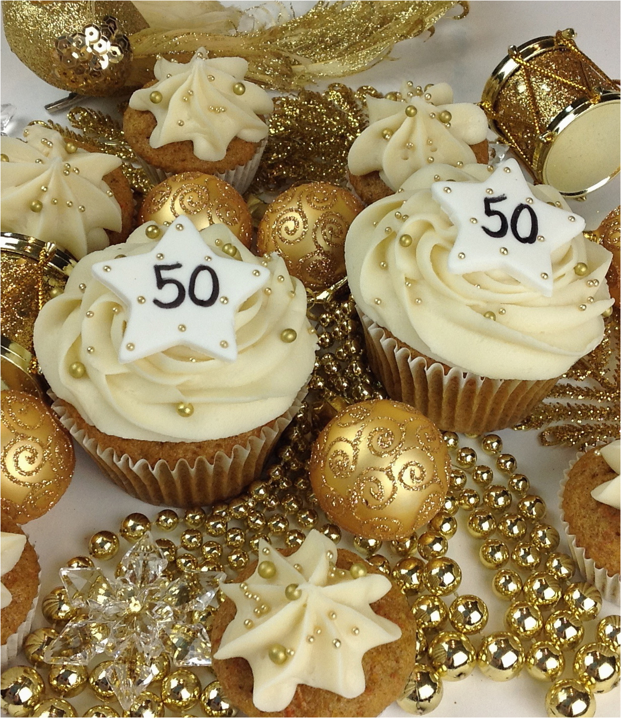 50th Birthday Cupcake Decorations Festive Cupcakes
