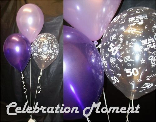 50th Birthday Decorations Purple Party Balloon Decoration Lilac Ebay