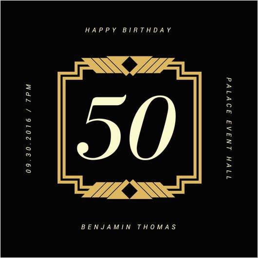 50th Birthday Email Invitations Customize 922 Invitation Templates Online