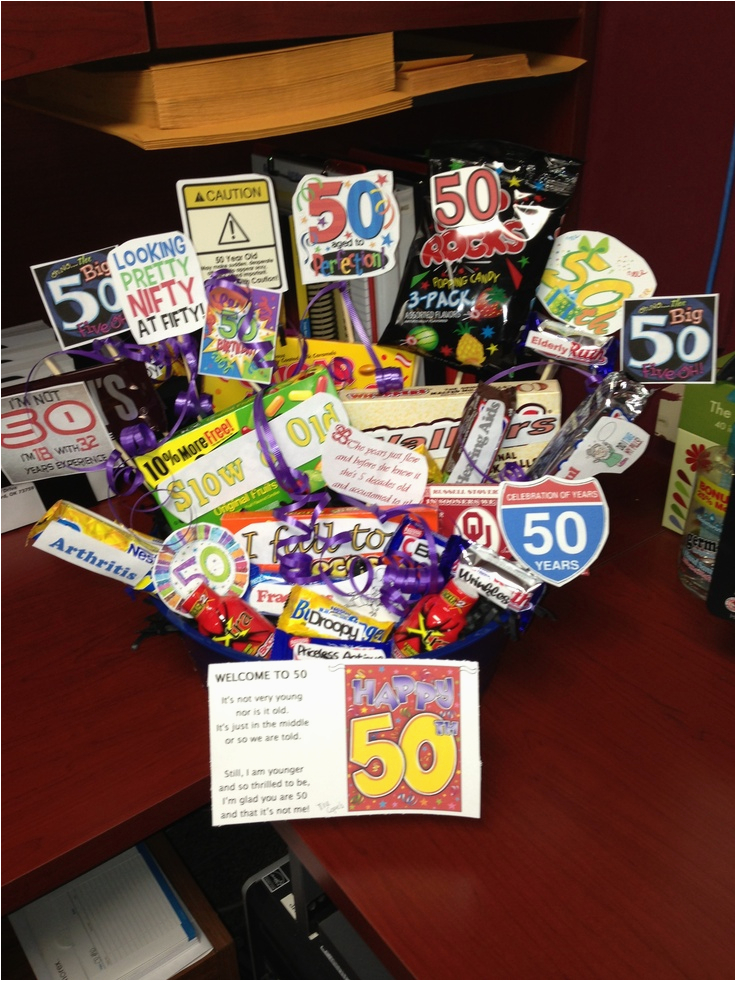 50th Birthday Gift Baskets For Her 40th Ideas Party