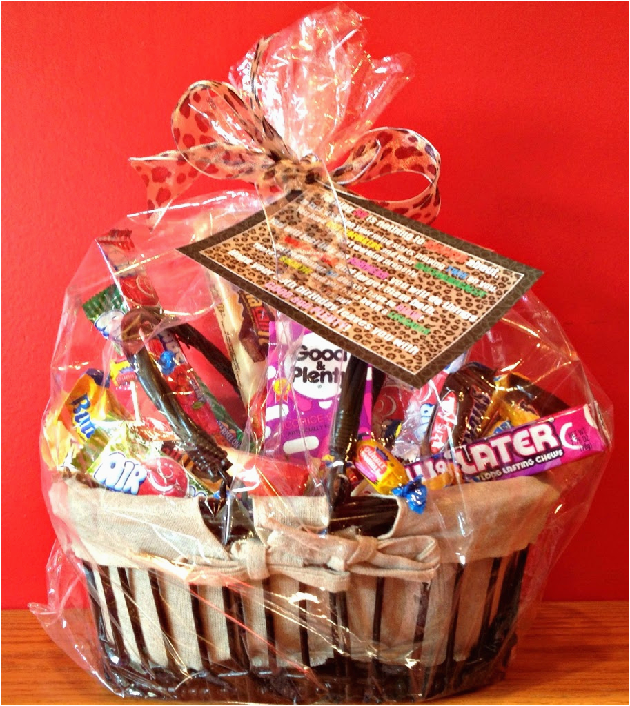 50th Birthday Gift Baskets For Her Candy Basket And Poem An Affair From The