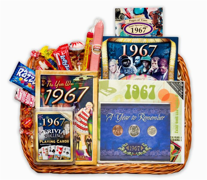 50th Birthday Gift Baskets For Her Basket 1967