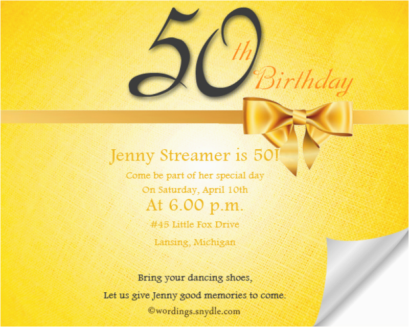 50th Birthday Invitation Quotes Sample For Orderecigsjuice Info