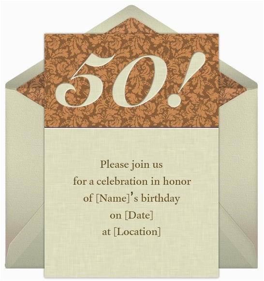 50th Birthday Invitation Sayings 50th Birthday Invitations Wording