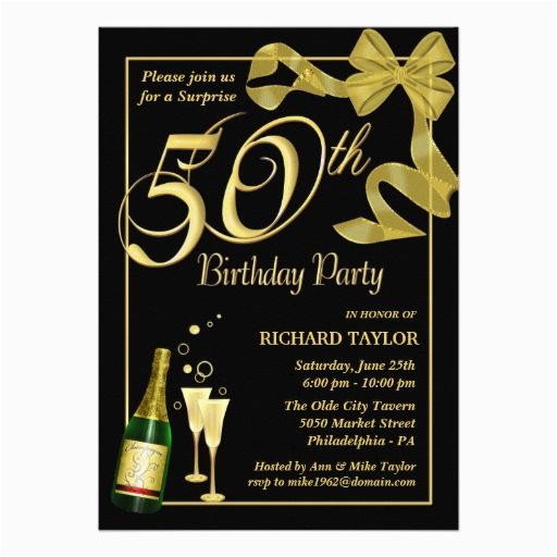 50th Birthday Invitations Free Ideas Bagvania Printable