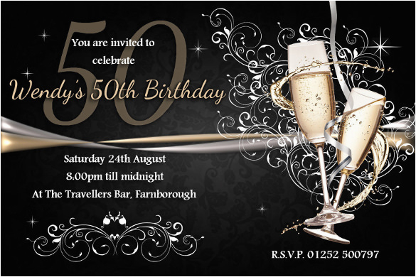 sample 50th birthday invitation