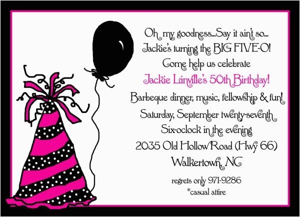 50th Birthday Invite Ideas Invitation For Party New