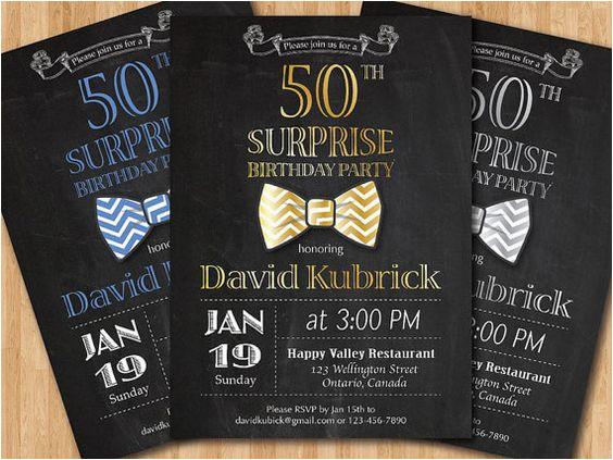 50th birthday invitations for men